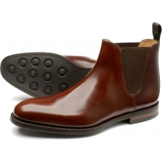 Loake Ascot Chelsea Boot Mens Brown Shoes (09)