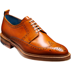 Barker Bailey Derby Brogue Wingtip Style Cedar Calf Mens Shoes (09½)