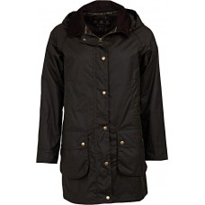 Barbour Canfield Olive Ladies Waxed Jacket