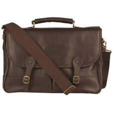 Barbour Bag Leather Briefcase Chocolate