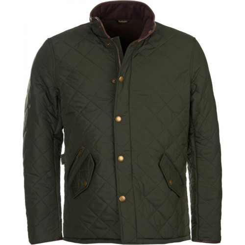 Barbour Jacket Powell Quilted Olive