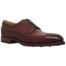Barker Calvay Derby Style Mens Dark Brown Grain Leather Mens Shoes (09½)