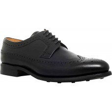 Barker Grassington Derby Wingtip Brogue Style Black Calf Shoes (Size 06½)