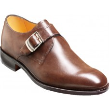 Barker Monk Strap Style Northcote Dark Brown Calf Mens Shoes (10)