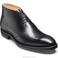 Barker Orkney Chukka Boot Style Mens Black Calf Boots (08)
