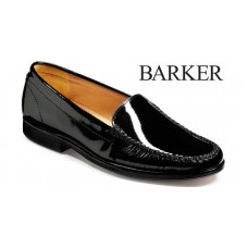 Barker Cerys Loafer Style Black Slip On Ladies Shoes