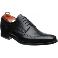 Barker Larry Black Calf Derby Brogue Style Mens Leather Shoes (Size 06)