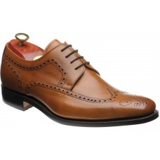 Barker Larry Cedar Calf Derby Brogue Style Mens Leather Shoes (Size 10)
