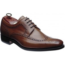 Barker Larry Dark Brown Calf Derby Brogue Style Mens Leather Shoes (08)
