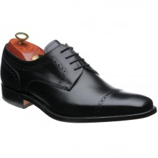 Barker Leo Derby Style Black Calf Mens Lace Up Shoes