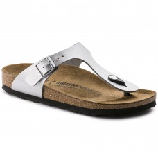 Birkenstock Gizeh Ladies Silver Sandals
