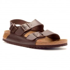 Birkenstock Milano Brown Birko Flor Mens Sandals