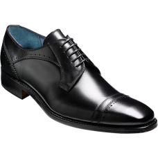 Barker Blake Derby Toe Cap Style Black Calf Mens Shoes