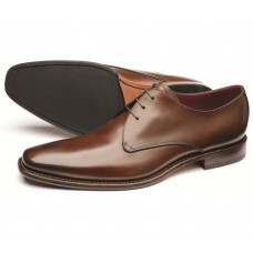 Loake Bressler Dark Brown Plain Derby Shoe (11)