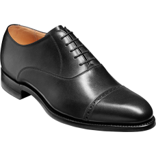 Barker Burford Oxford Toe Cap Style Black Calf Mens Shoes