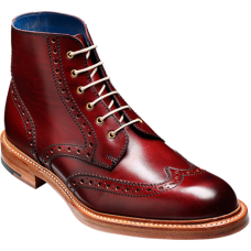 Barker Boot Half Brogue Style Butcher Cherry Calf Mens Boots