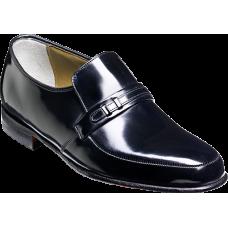 Barker Loafer Style Campbell Black Hi-Shine Mens Slip On Shoes