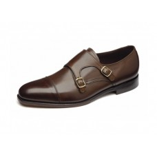 Loake Monk Style Double Buckle Cannon Dark Brown Shoes (11½)