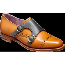Barker Monk Strap Toe Cap Style Charlotte Cedar/Blue Calf Shoes