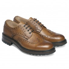 Cheaney Avon Wingtip Country Brogue Style Almond Calf Mens Shoes