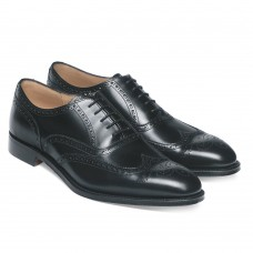 Cheaney Broad II Oxford Brogue Style Mens Black Shoes