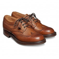 Cheaney Marianne Derby Brogue Almond Grain Womens Shoes
