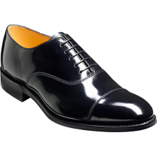 Barker Cheltenham Black Hi-Shine Oxford Toe Cap Shoes (10)