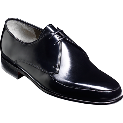barker chesham black hi shine derby shoes