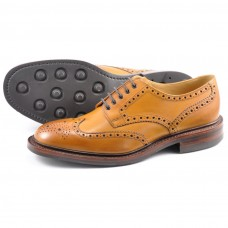 Loake Derby Style Brogue Chester Tan Rubber Sole Mens Shoes (11½)