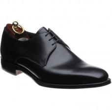 Loake Derby Plain Style Cornwall Black Mens Shoe (08½)