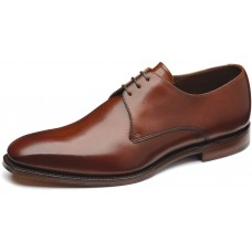 Loake Derby Plain Style Cornwall Mahogany Mens Shoe (08½)