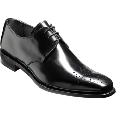 Barker Darlington Derby Brogue Black Leather Mens Shoes (09)