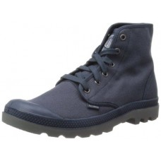 Palladium Pampa Hi Mens Indigo Metal Blue Canvas Mens Ankle Boots (10)