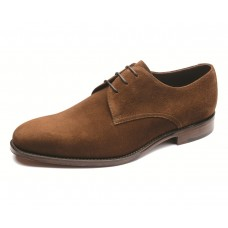 Loake Derby Style Downing Brown Suede Mens Shoes