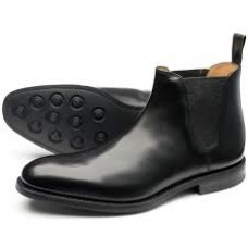 Loake Ascot Chelsea Boot Mens Black Shoes (06)