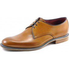 Loake Plain Derby Style Drake Tan Mens Shoes (09)