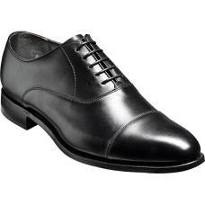 Barker Duxford Oxford Toe Cap Style Black Calf Mens Shoes