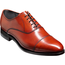 Barker Oxford Toe Cap Style Duxford Rosewood Calf Mens Shoes (09½)