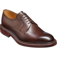 Barker Elton Derby Style Dark Brown Grain Leather Mens Shoes (10)
