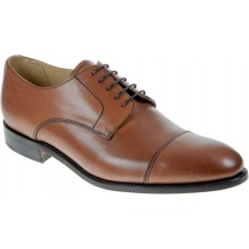 Barker Toe Cap Oxford Style Epping Mens Conker Brown Calf Leather Shoes (10)