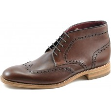 Loake Brogue Wingtip Ankle Boot Style Errington Mens Brown Boots (07½)