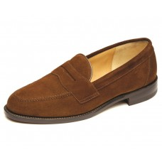 Loake Eton Brown Suede Mens Penny Loafer Shoes (11)