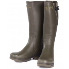 Barbour Hail Mens Olive Green Rubber Wellington Boots