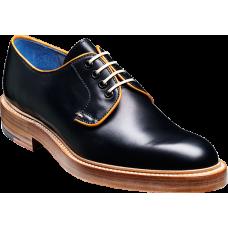 Barker Derby Style Fenwick Contrast Coloured Laces Black Calf / Cedar Calf Mens Shoes