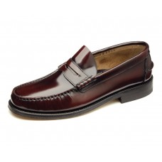 Loake Moccasin Style Princeton Mens Burgundy Shoes (11)