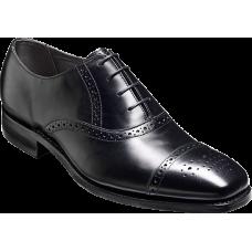 Barker Oxford Brogue Toe Cap Style Flynn Black Calf Mens Shoes