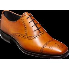 Barker Oxford Brogue Toe Cap Style Flynn Cedar Calf Mens Shoes