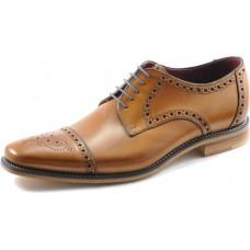 Loake Derby Toe Cap Brogue Style Foley Tan Mens Shoes (08)