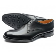 Loake Gable Black Plain Derby Style Black Mens Shoes (11)