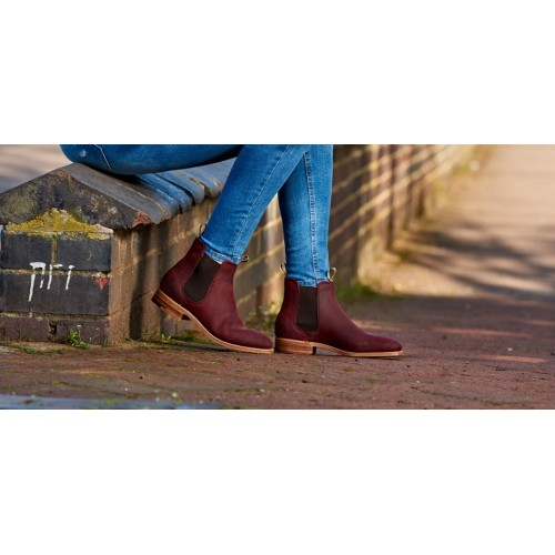 2069b6a28ef26 Barker Gina Chelsea Boot Style Ladies Mid Brown Waxy Suede Leather Boots